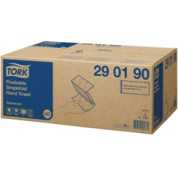 Ręcznik w składce ZZ Tork Advanced biały łatworozpuszczalny.