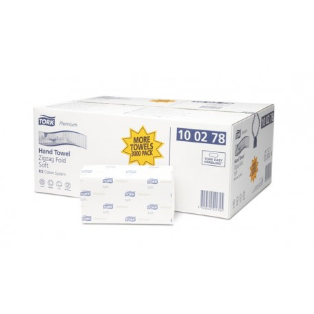 Ręcznik w składce ZZ Tork Premium biały miękki